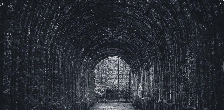 Tunnel in un giardino
